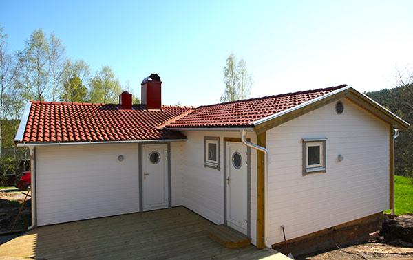 Oncewall liggandepanel vit villa